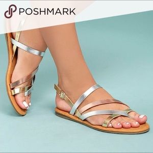 Silver, Gold, and Rose Gold Sandals